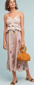 Anthropologie pink Sahara floral dress